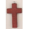 Cross Wooden Religious 30x50mm Mahogany
